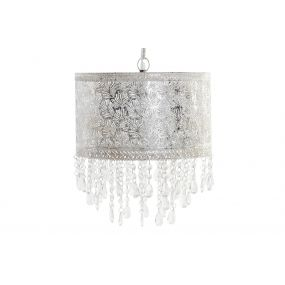 CEILING LAMP METAL ACRYLIC 31,5X37 AGED SILVER