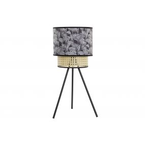 TABLE LAMP METAL POLYESTER 24X24X54 PALMS BLACK