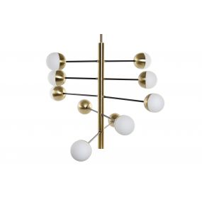 CEILING LAMP METAL GLASS 45X52X103 GOLDEN