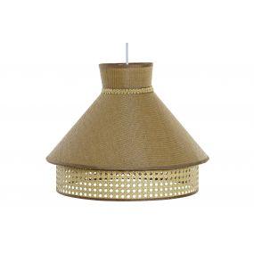 CEILING LAMP METAL LINEN 40X40X32 NATURAL