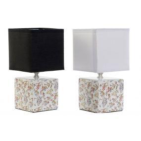 TABLE LAMP STONEWARE 12,5X12,5X25,5 E14 2 MOD.