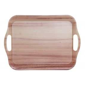 TRAY RECYCLED BAMBOO 36,5X26,5X2 36,5 WOOD NATURAL