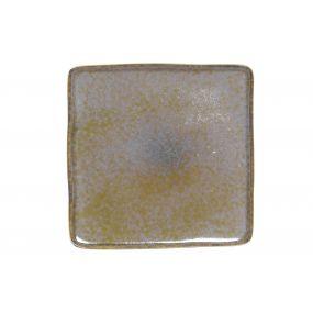 PLATE STONEWARE 27X27 160 GREEN