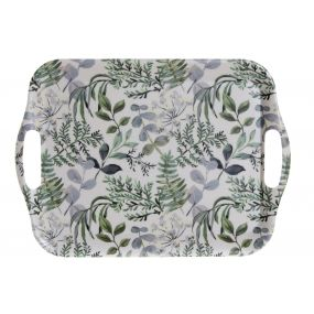 TRAY RECYCLED BAMBOO 36,5X26,5X2 GREEN