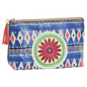 TOILET BAG/ KIT PU 28X8X20 28 AFRICAN BLUE