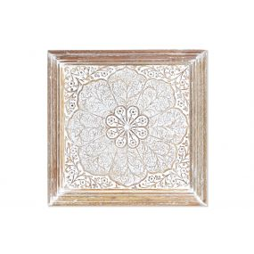 WALL DECORATION MANGO 38X3,5X38 MANDALA DECAPE