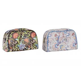 TOILET BAG/ KIT PU 25X12,5X16 FLORAL 2 MOD.