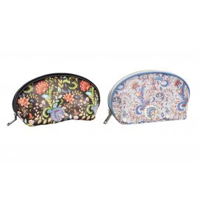 TOILET BAG/ KIT PU 23X8X12 FLORAL 2 MOD.
