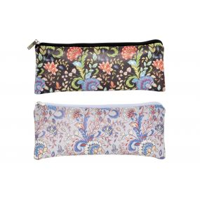 TOILET BAG/ KIT PU 20X1,5X8 FLORAL 2 MOD.