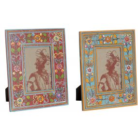 PHOTO FRAME MDF 10X15 FLORAL HAND PAINTED 2 MOD.