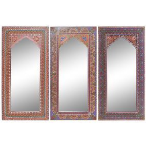 MIRROR MDF 30X1,5X61 FLORAL HAND PAINTED 3 MOD.
