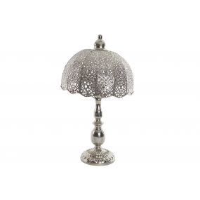 TABLE LAMP METAL 30X30X54 CHROMED SILVER