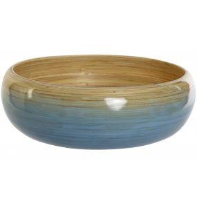 SALAD BOWL BAMBOO 30X30X10 BLUE