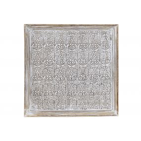WALL DECORATION MANGO 60X3X60 CARVED NATURAL