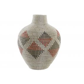 VASE SEAGRASS 36X36X45 RED