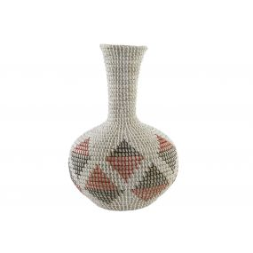 VASE SEAGRASS 32X32X49 RED