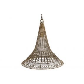 CEILING LAMP IRON 51X51X49 ETHNIC MATTE GOLDEN
