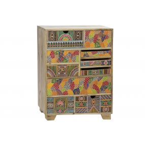 DRAWER MANGO 70X30X90 HAND PAINTED MULTICOLORED