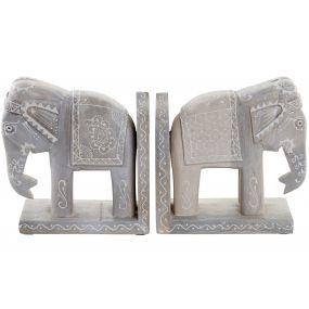 BOOKEND SET 2 MANGO 17X8,5X16 ELEPHANT