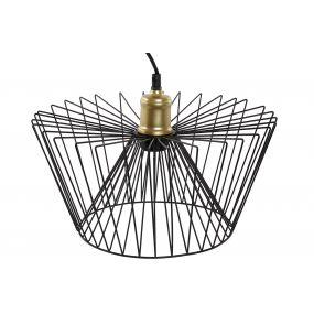 CEILING LAMP METAL 35X35X17 BLACK
