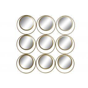 WALL DECORATION METAL MIRROR 60X2X60 CIRCLES
