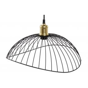 CEILING LAMP METAL 41X39X25 WAVY BLACK
