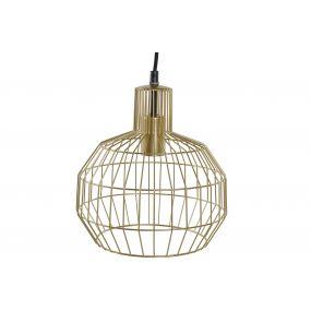 CEILING LAMP METAL 24X24X28 GEOMETRIC GOLDEN
