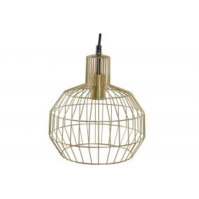 CEILING LAMP METAL 24X24X28 GEOMETRIC GOLDEN