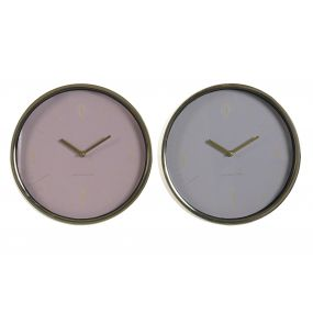 WALL CLOCK METAL GLASS 30X4X30 2 MOD.