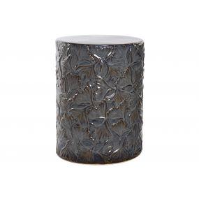 AUXILIARY TABLE STONEWARE 34X34X45 34 GINKO BLUE