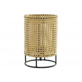 TABLE LAMP METAL PVC 20X20X30 RACK NATURAL