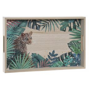 TRAY WOOD 40X25X4 JUNGLE GREEN