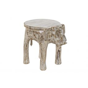 AUXILIARY TABLE MANGO BRASS 37X51X46 ELEPHANT