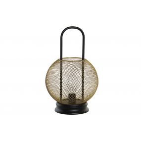 DECORATIVE LIGHT LED METAL 20X20X32 GOLDEN
