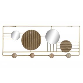 WALL CLOTHES RACK METAL GLASS 57X3X21,5 4COLG.