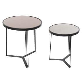 AUXILIARY TABLE SET 2 METAL 45X45X49 45X45X48