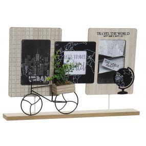 MULTIPHOTOS FRAME MDF 43,5X9X28 BICYCLE NATURAL