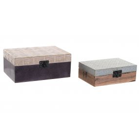 BOX SET 2 MANGO BRASS 18,5X13X8