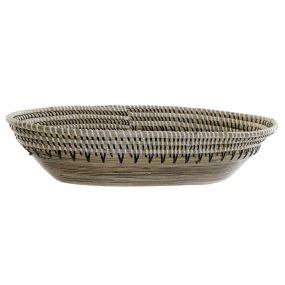 DECORATION TRAY BAMBOO FIBER 54,5X32X11 BROWN