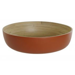 FRUIT BOWL BAMBOO 30X30X8,5 CORAL