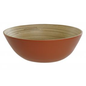 FRUIT BOWL BAMBOO 25X25X9 CORAL