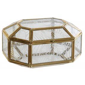 JEWELER METAL GLASS 15X11X8 GOLDEN