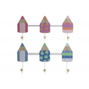 WALL CLOTHES RACK WOOD 40X4X18 PENCILS 2 MOD.