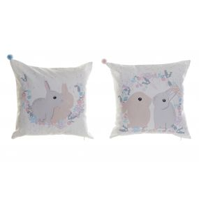 CUSHION POLYESTER 40X3X40 RABBITS 2 MOD.
