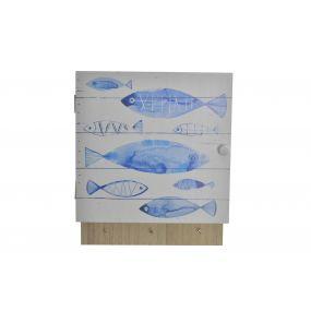 KEY HOLDER WOOD 21X6,5X25,5 FISHES