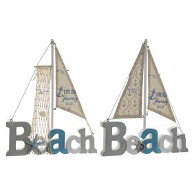 DECORATION MDF CANVAS 28X3X35 BEACH 2 MOD.