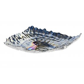TRAY KEYS GLASS 26X20X5,5 SHELL IRIDESCENT