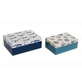 BOX SET 2 WOOD 20X14,5X7,5 OCEAN 2 MOD.