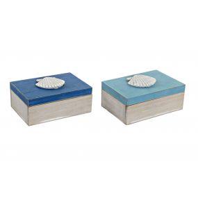 BOX WOOD 20X13,5X8 SHELL 2 MOD.