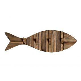 CLOTHES RACK WOOD 69X7,5X21 FISH AGED